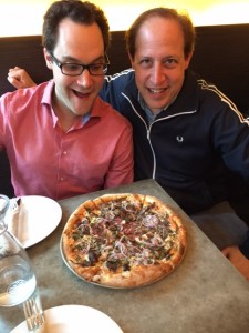 Me with Thor Diakow -TV host (left) over some pizza while he judges in my pizza challenge