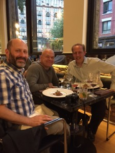 Lawrence Ferber - Journalist (left), Uwe Boll - Film Director (middle) and Richard Wolak - Vanfoodster at Bauhaus Restaurant