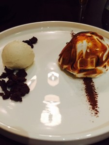 Tiramisu Bombe and Mascarpone Gelato