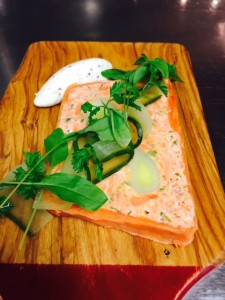 Smoke Salmon and Leek Terine