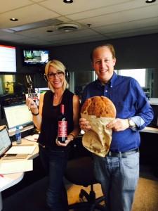 Lynda Steele -- Radio Host (left) and me on @CKNW980 #BestandtheFoodiest