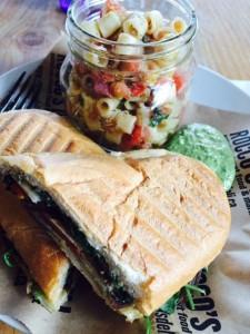 Grilled Vegetarian Sandwich and a Bruschetta Salad