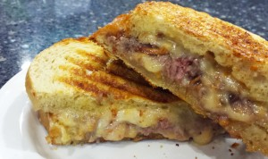Grilled Gouda & Roast Beef Sandwich