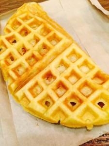 Condensed Milk and Sugar stuffed waffles