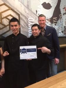 Chef Hiro Amano & Sous Chef Alvin Su and Owner Duane McGaw