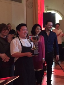 Roger Ma and the team from Boulevard Kitchen and Oyster Bar was crowned with 1st place winning the Third Annual Curry Cup competition for his Balinese chicken curry.