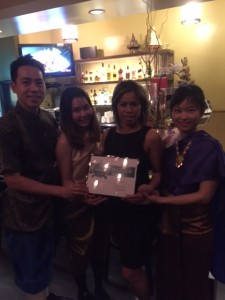 Chef Ui Ratsomjit and her team