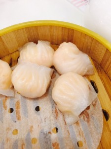 Shrimp and matsutake dumplings