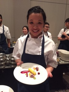 Pastry Chef Candace of EBO Restaurant with her delicious Squash Tart