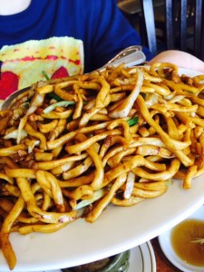 Shanghai pan-fried noodles
