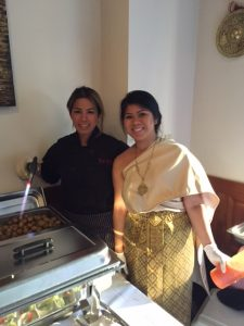 Chef Ui Rajomit (left) of U & I Thai