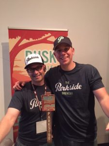 Vern and Sam of Parkside Brewery