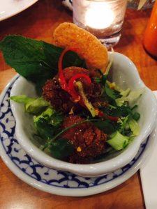 Larb Shrimp dish