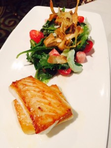 Chopped Salad with Haida Gwaii Halibut