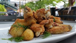 Crunchy dill pickle wings