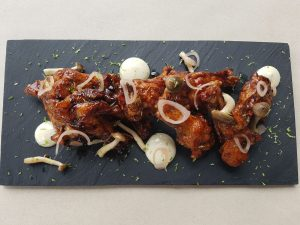 Chilli maple soy glazed wings