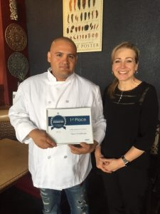 Chef Roberto Lopez Lara and Owner Carol