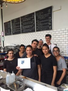 Chefs Berenice Balbuena & Rafael Flores and their team