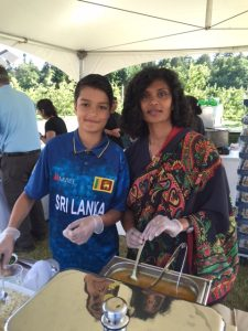 Dharini Thiruchittampalam and her 12 year old son Anik Nielsen (Sri Lanka)