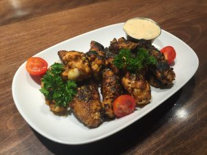 Greek style chicken wings