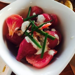 Beets with housemade marscapone