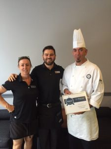 Marile Lucuik, Wylie Spencer and Chef Vince
