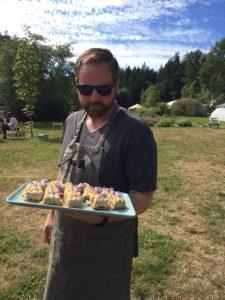 Yarrow Meadows chicken rillete on toast