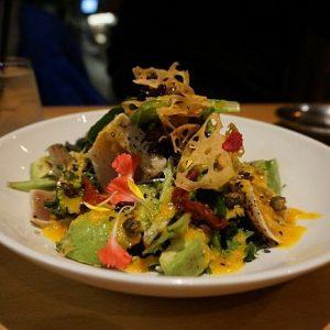 Tuna Tataki Salad with Avocado