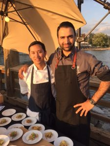 Chef Karan Suri (right) of Arc Restaurant at the Fairmont Waterfront