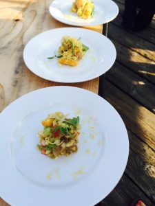 Haidacore Tuna, puffed rice, crispy bits, spiced tamarind dressing