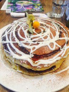 Cinnamon Cream Cheese Swirl Pancakes