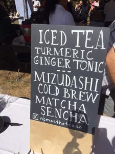 Namasthé Tea Company served up some refreshing teas and sodas