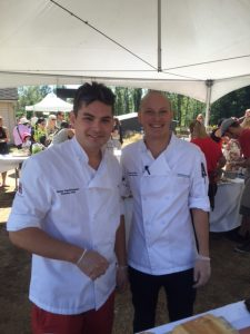 Executive Chef Jesse Hochhausen and Executive Sous Chef Westley Feist of Showcase Restaurant
