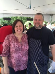 Shannon and Chef Adrian Beatty