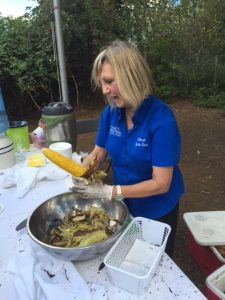 Krause Berry Farms served up a delicious Roasted corn