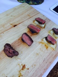 Fable Kitchen served a Charcoal BBQ pastured skirtsteak with black pepper jam