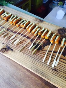 Forage Restaurant served up roasted vegetables from Glorious Organics