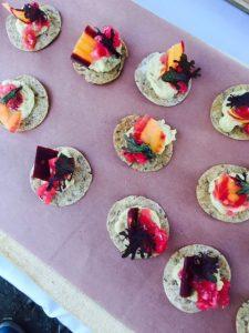 Nita Lake Lodge presented a colourful dish of Roasted Artichoke Hummus