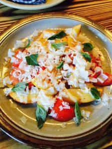 Tomato Peaches Salad
