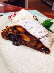 Nutella and Apricot Strudel