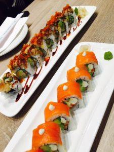 Dragon and Alaska Sushi Roll