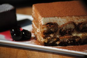 Espresso Tiramisu with Amarena Cherries