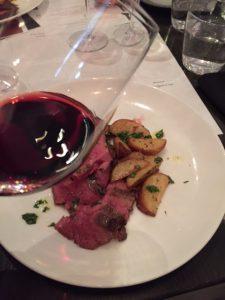Bistecca tagliata paired with Valpolicella Ripasso DOC Classico Superiore La Casetta