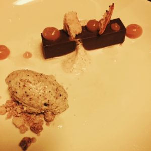 Kobocha squash, milk chocolate