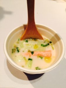 Salmon and Tamarind Chowder a la Mekong by Chef Thompson Tran of the Wooden Boat