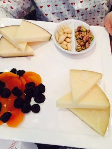 Cheese, dried fruit, nuts