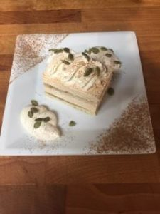 Coffee Pumpkin Tiramisu Slice